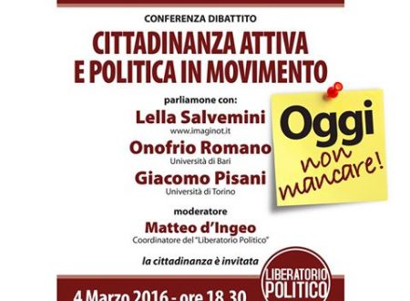 Cittadinanza attiva e politica in movimento