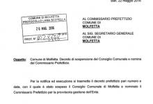 Il Viceprefetto Dott. Mauro Passerotti si insedia al Comune di Molfetta