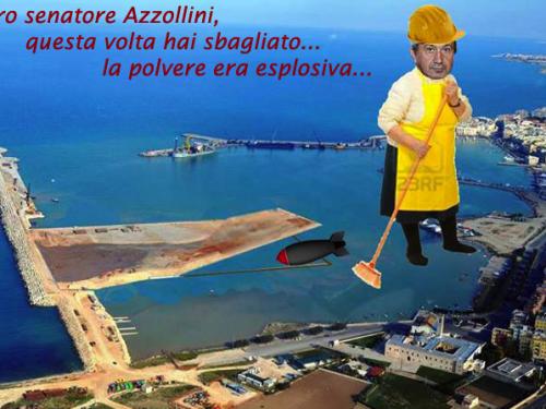 Dopo tre campagne elettorali di propaganda sul porto, il senatore Azzollini si dedica ai rifiuti