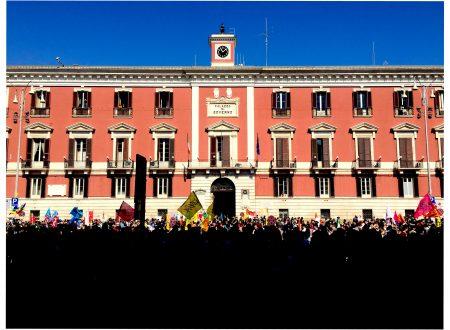 Giornata della Memoria e dell'Impegno in ricordo delle vittime innocenti di tutte le mafie. Corteo a Bari 21.3.2017