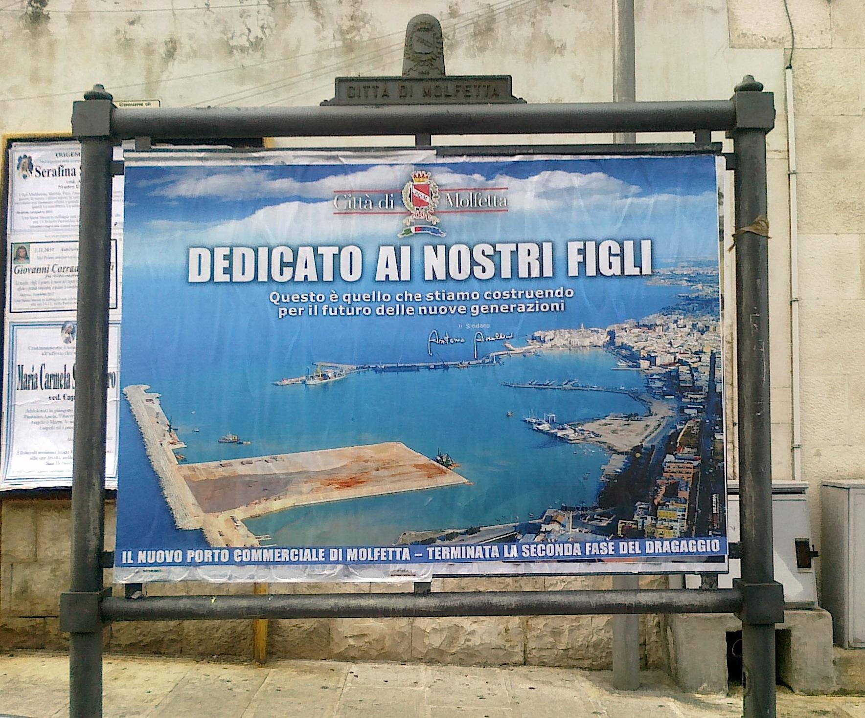 Al via il processo per la costruzione del nuovo porto di for Nuovo arredo molfetta