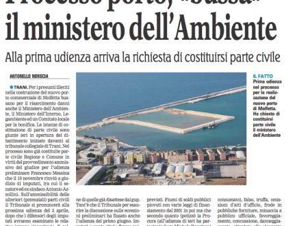 """Processo porto, """"bussa"""" il ministro dell'Ambiente"""