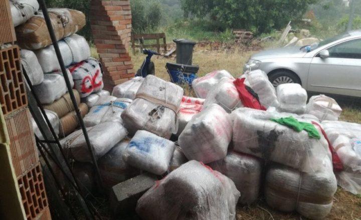 Gargano, una tonnellata di marijuana nascosta in villa