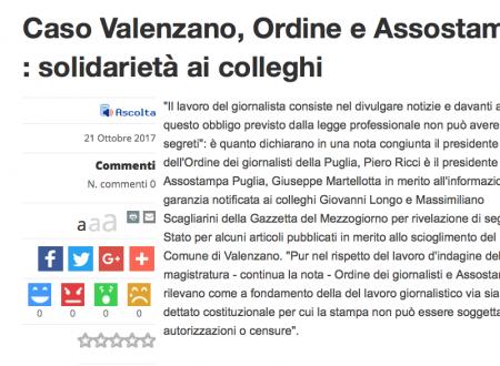 Articoli su mafia Comune di Valenzano, indagati due giornalisti della Gazzetta