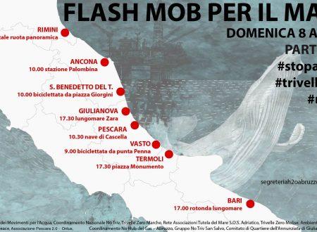 Trivelle nel mare Adriatico: domenica 8 aprile otto flash-mob
