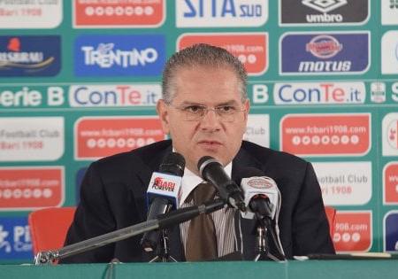 Bari calcio, nuovo deferimento per il presidente Giancaspro: rischia un'ammenda