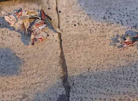 Una bomba carta artigianale lanciata e fatta esplodere in pieno centro