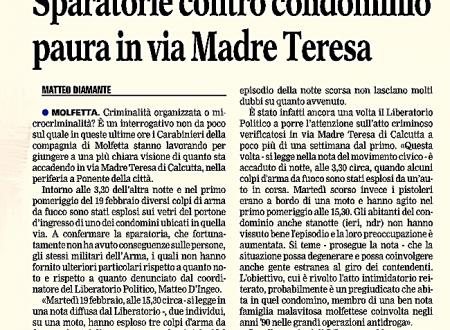 Sparatorie e atti intimidatori. I Carabinieri cominciano a chiudere il cerchio.