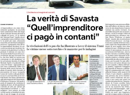 Trani, ex pm Savasta: «Mi sono venduto per 120mila euro»