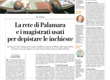 La rete di Palamara e i magistrati usati per depistare le inchieste