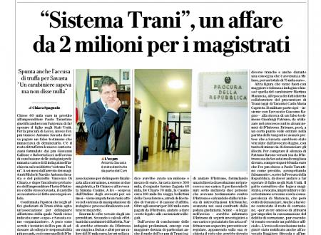"""""""Sistema Trani"""", un affare da 2 milioni per i magistrati"""