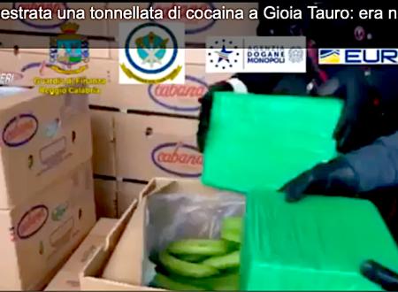Gioia Tauro, una tonnellata di cocaina tra i caschi di banane