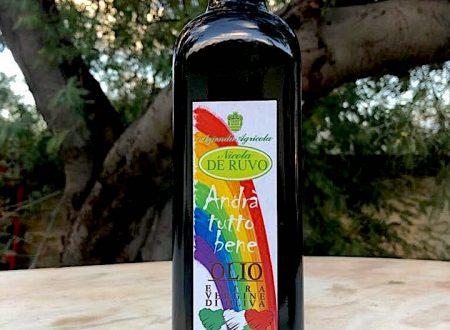 """L'Azienda Agricola di """"Nicola DE RUVO"""" dona bottiglie di olio """"Andrà tutto bene"""""""