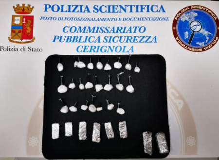 Cerignola: spacciano cocaina e hashish, 2 arresti, uno è minorenne