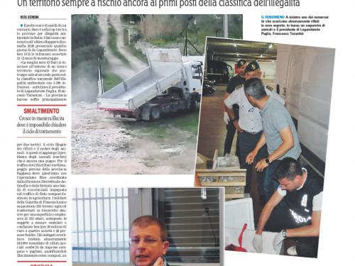 Dossier Legambiente – Ciclo dei rifiuti e traffico di animali, i tentacoli delle zoomafie su Bari
