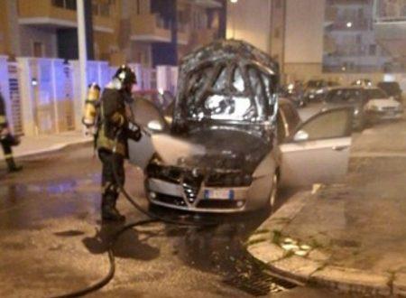 Auto a fuoco in due diverse zone di Giovinazzo