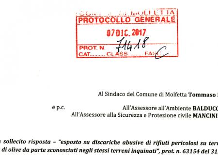 Dal 31 ottobre scorso il sindaco e gli assessori non rispondono sulle discariche abusive in zona ASI