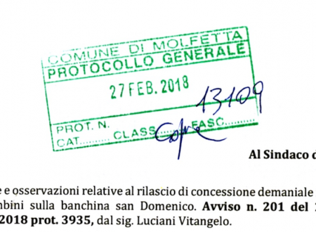 Presentata l'opposizione alla richiesta di concessione per la giostra sulla banchina san Domenico